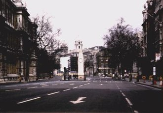 Liam Gillick - An example of the Documents Series by Henry Bond and Liam Gillick.  Title: 11 February 1992, Trafalgar Square, London, England.