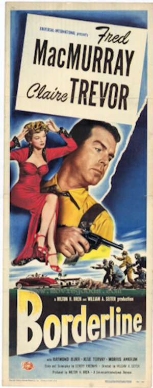 Borderline (1950 film) - Theatrical release poster