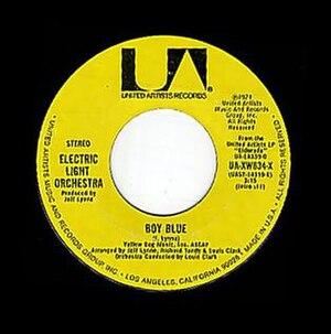 Boy Blue (Electric Light Orchestra song) - Image: Boy Blue single