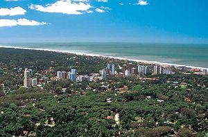 Pinamar - Aerial view of the town
