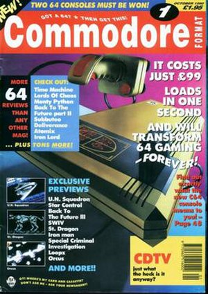 Commodore Format - Image: Cf 1oct 90