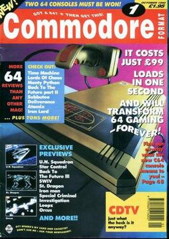 Commodore Format - Image: Cf 1oct 90