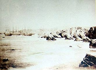 Chincha Islands War - The guano-rich Chincha Islands of Peru in 1863