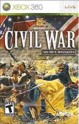 History Civil War: Secret Missions - Xbox 360 cover art