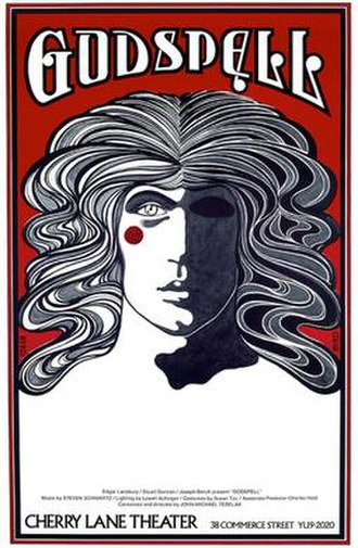 Godspell - Poster for Godspell by David Byrd  in the Cherry Lane Theatre