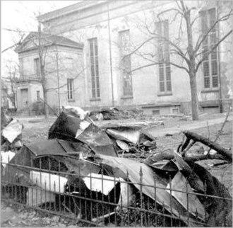 Dutch Reformed Church (Newburgh, New York) - Damage from the 1950 hurricane
