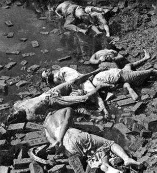 Dead bodies of Bengali intellectuals, 14 December 1971
