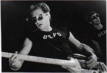 Casale performing live with Devo, 1978