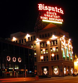 Historic Columbus Dispatch building at 34 Sout...