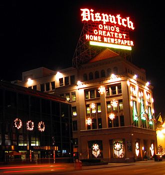 The Columbus Dispatch - Historic Columbus Dispatch building at 34 South Third Street, across from the Ohio state capitol building.