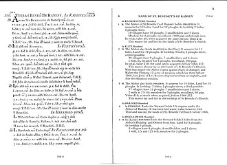 Barton-le-Clay - The Barton Domesday Book entry in Latin and English