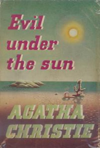 Evil Under the Sun - Dust-jacket illustration of the first UK edition