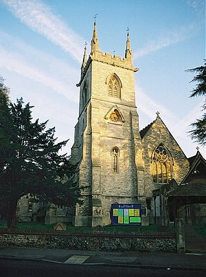 St Mary's Church, Ewell - The Church of Saint Mary the Virgin, Ewell, seen from the West.