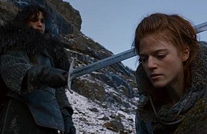 Leslie as Game of Thrones' Ygritte