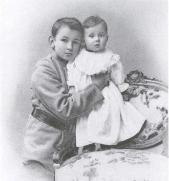 George Vernadsky - George Vernadsky and his sister Nina at a young age.