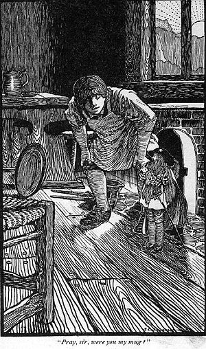 The King of the Golden River - Gluck and the King of the Golden River, illustration to a later edition by John C. Johansen