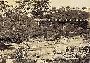 Gumeracha, South Australia - Gumeracha Bridge circa 1869.