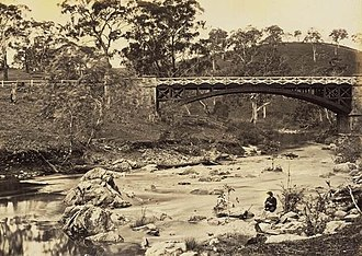 Gumeracha, South Australia - Gumeracha Bridge circa 1869.