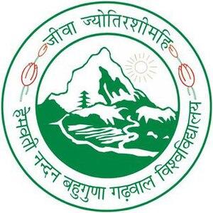 Hemwati Nandan Bahuguna Garhwal University - Image: Hemwati Nandan Bahuguna Garhwal University logo