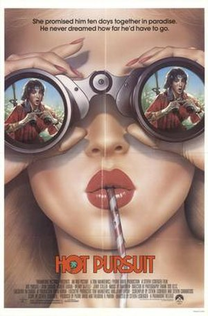 Hot Pursuit (1987 film) - Theatrical release poster by Drew Struzan