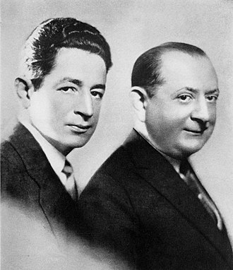 Howard Brothers - Willie (left) and Eugene Howard in 1926
