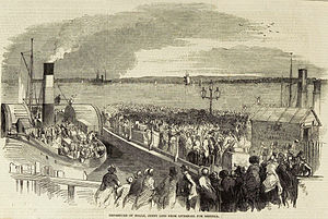 Jenny Lind tour of America, 1850–52 - The Atlantic leaving Liverpool for America, August 1850