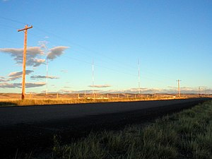 KOWB - The towers for KOWB located south of Laramie.