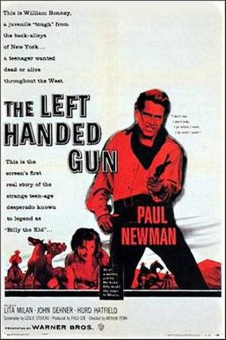 The Left Handed Gun - Theatrical release poster