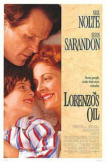 <i>Lorenzos Oil</i> 1992 American drama film directed by George Miller