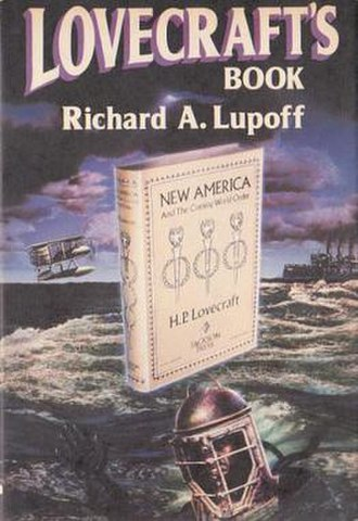Lovecraft's Book - Dust-jacket illustration by Jeffrey K. Potter for Lovecraft's Book