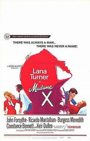 Madame X (1966 film) - Film poster