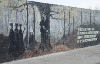 Spanish Maquis - A mural in Sallent, Barcelona, Spain commemorating the actions of the maquis.