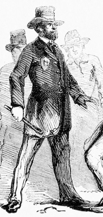 Dead Rabbits riot - Police Officer Shangles, an 1857 New York City Policeman during the Dead Rabbits Riot.