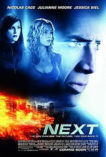 <i>Next</i> (2007 film) 2007 American film by Lee Tamahori