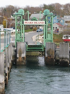 Peaks Island - Photo of ferry landing and Welch Street on Peaks Island, Maine