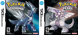 <i>Pokémon Diamond</i> and <i>Pearl</i> Video games developed by Game Freak and published by Nintendo for the Nintendo DS