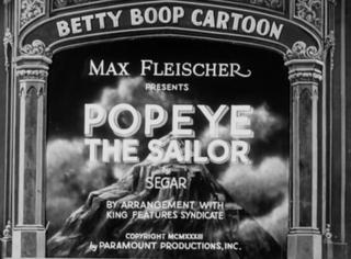 <i>Popeye the Sailor</i> (film) 1933 film by Dave Fleischer