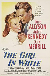 <i>The Girl in White</i> 1952 American film by John Sturges