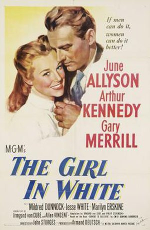 The Girl in White - Image: Poster of the movie The Girl in White
