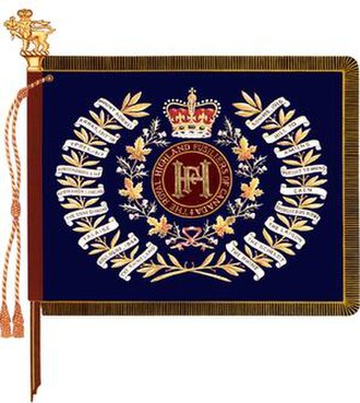 The Royal Highland Fusiliers of Canada - The regimental colour of the Royal Highland Fusiliers of Canada.