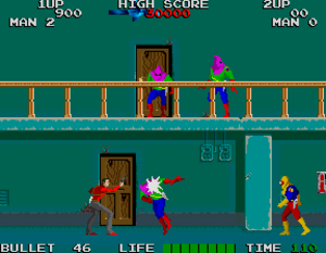Rolling Thunder (video game) - Screenshot of the arcade version