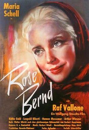Rose Bernd (1957 film) - Film poster