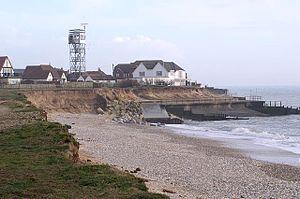 Coastal erosion at West Beach