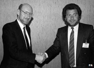 Sinclair Research - Clive Sinclair sold the brand name to Alan Sugar's Amstrad in 1986