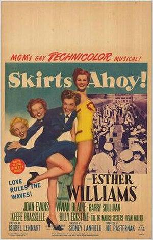 Skirts Ahoy! - Original film poster