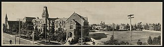 Loyola Marymount University - 4. St. Vincent's College, facing east over Grand Ave. near LATTC, 1905.