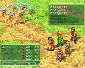 Suikoden (video game) - A battle scene from Suikoden.