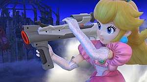 Super Scope - Princess Peach using the Super Scope in Super Smash Bros. for Nintendo 3DS and Wii U (2014)