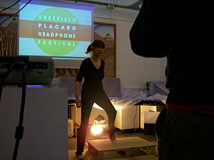 Access Space - Performance given (interior) during Sheffield Placard festival in 2011