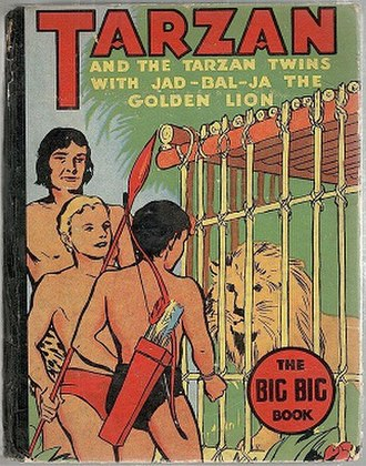 Tarzan and the Tarzan Twins - Cover of Tarzan and the Tarzan Twins, with Jad-bal-ja, the Golden Lion (1936)